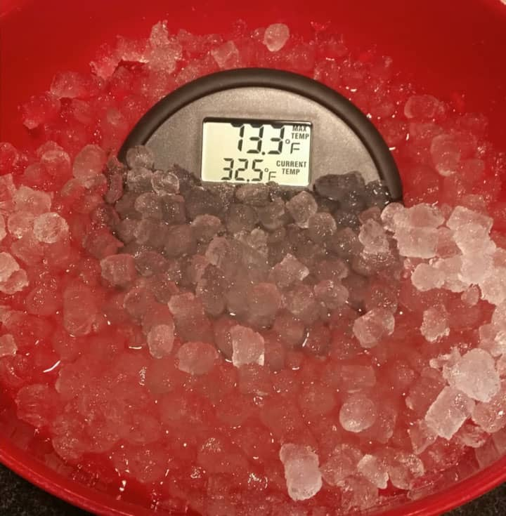 DishTemp ice bath test