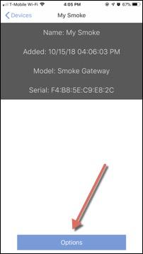 Smoke Options Button