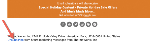 Unsubscribe from Emails