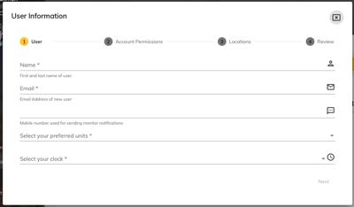 Cloud Account Settings Add New User 2